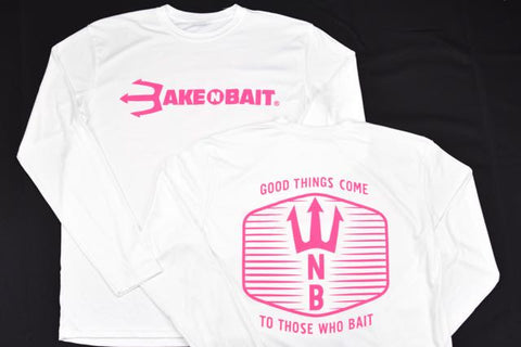 White/Pink - Trident - Long Sleeve - ON SALE!
