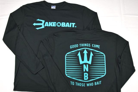 Black/Turquoise - Trident - Long Sleeve