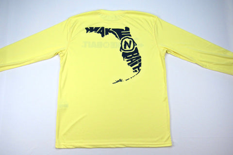 Pale Yellow/Navy Blue - Florida - Long Sleeve