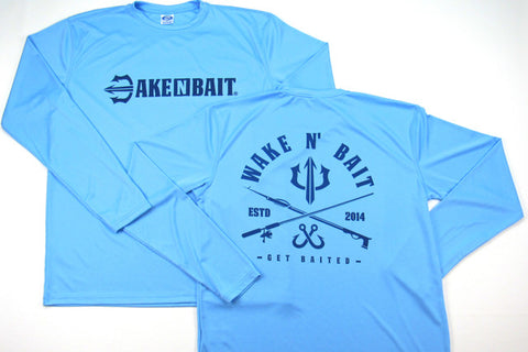 Columbia Blue/Navy Blue - Criss Cross - Long Sleeve
