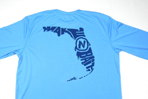 Columbia Blue/Navy Blue - Florida - Long Sleeve