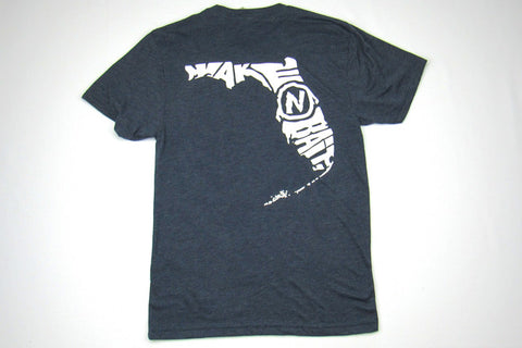Navy/White Short Sleeve Tri-blend T-shirt - Florida