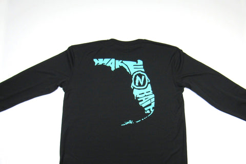 Black/Turquoise - Florida - Long Sleeve