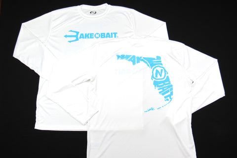 White/Turquoise - Florida - Long Sleeve - ON SALE!