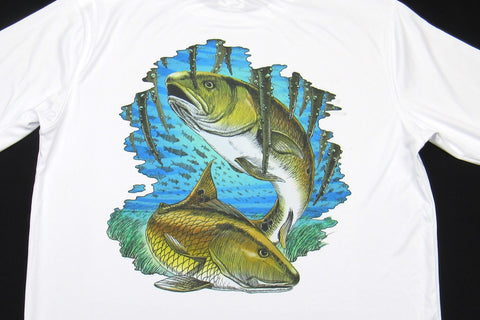 Redfish Long Sleeve - White - ON SALE!