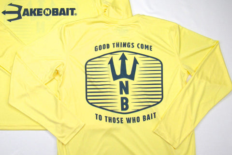 Pale Yellow/Navy Blue - Trident - Long Sleeve