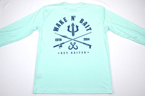 NEW! - Seagrass/Navy Blue - Criss Cross - Long Sleeve