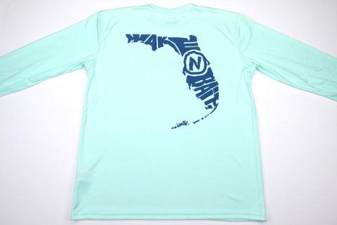 NEW! - Seagrass/Navy Blue - Florida - Long Sleeve