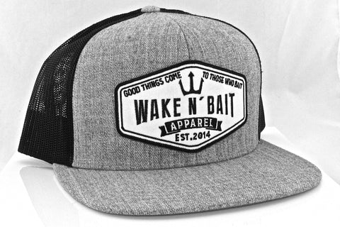 9193ec39e60 Wake N  bait Apparel - Black Neon Yellow Flat Bill Snapback Hat ...