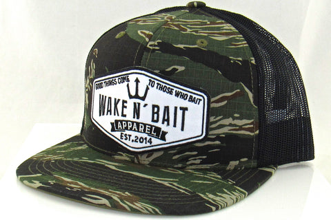 RealTree Camo/Black FlatBill Snapback w/ Embroidered Patch