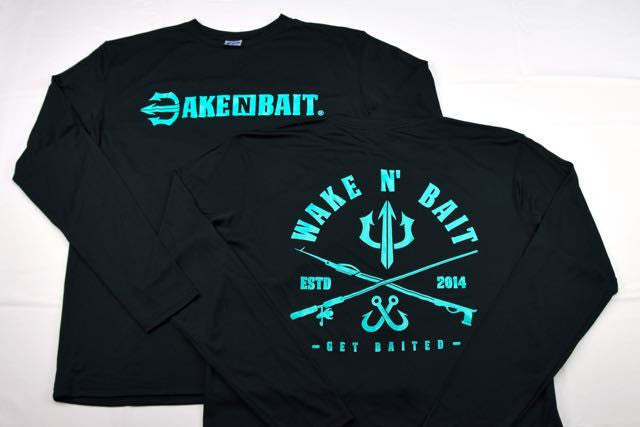 Black/Turquoise - Criss Cross - Long Sleeve