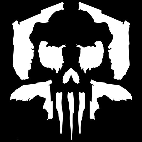 Florida Skull V2 - White Vinyl Decal