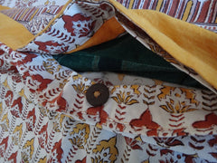 Lotus Garland Duvet Cover~Button opening at bottom too~Handmade