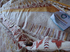 Lotus Garland Duvet Cover~Button closure~Reverse Exclusive Design~Hand Block Printed