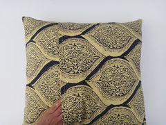 Fading Sun-Yellow & Gray Cushion Cover-Reverse Envelope Closure