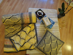 Fading Sun Quilt~Yellow Gray~With Coordinated Reverse Design~Designer Govinds Grove