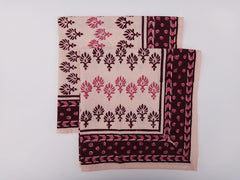 Mohana Dinner Napkins~Hand Block Printed~Exclusive Govinds Grove Design