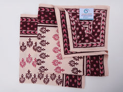 Mohana Dinner Napkins~Coordinated For Table Cloth~Hand Block Printed