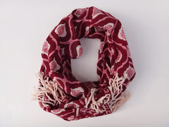 Mohana Scarf-Handmade - Rolled Up View