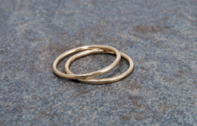 14K Solid Gold Stack Ring