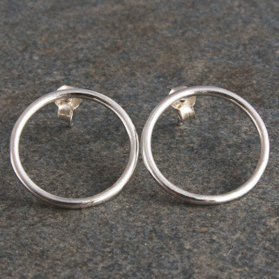 Medium Silver Hoops - Emma's Jewelry Box