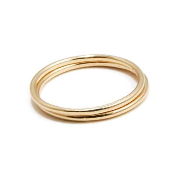 14K Solid Gold Stack Ring - Emma's Jewelry Box