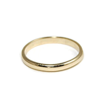14K Gold Half Round Band - Emma's Jewelry Box