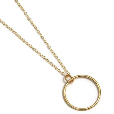 Classic Gold Circle Necklace - Emma's Jewelry Box