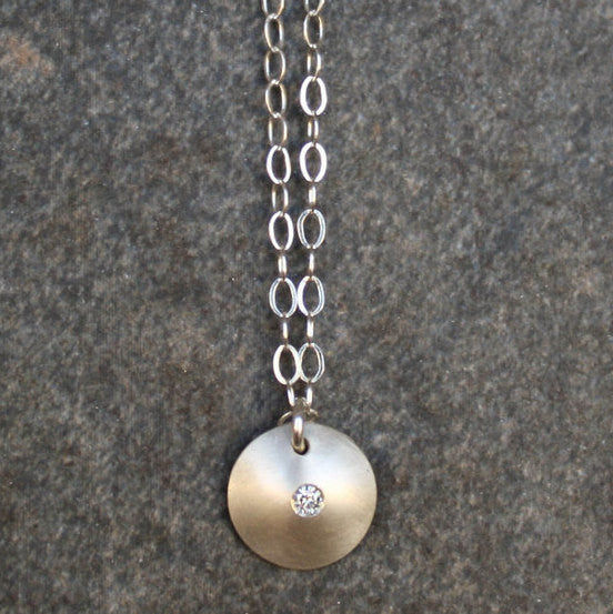 Flush Set Moissanite Necklace - Emma's Jewelry Box