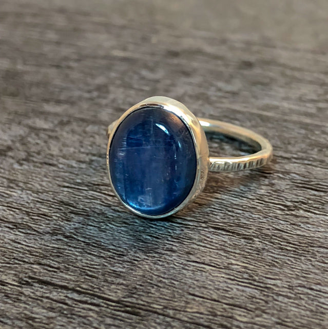 Oval Kyanite Ring - Emma's Jewelry Box