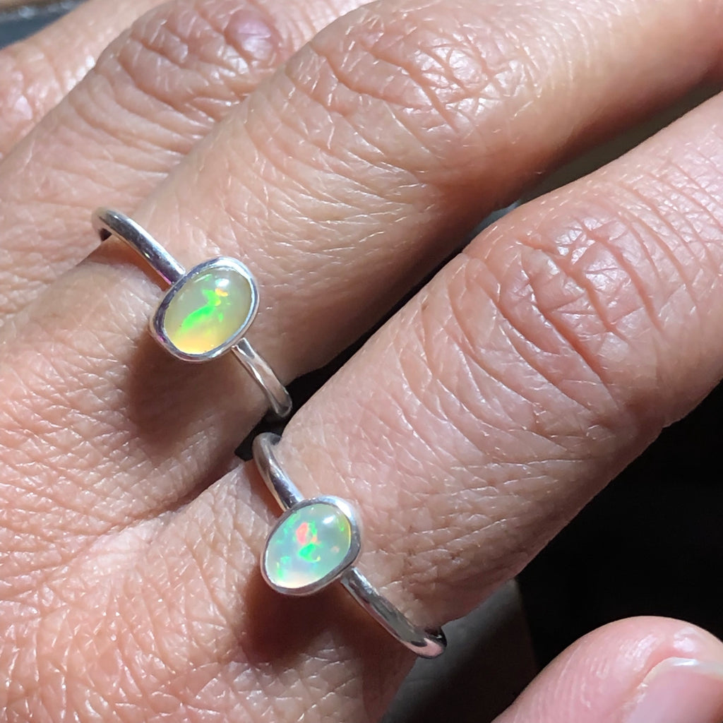 Ethiopian Opal Stacking Ring - Emma's Jewelry Box