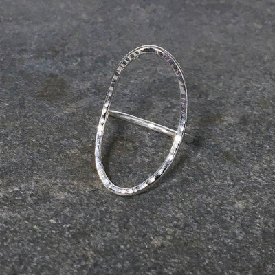 Silver Open Oval Ring