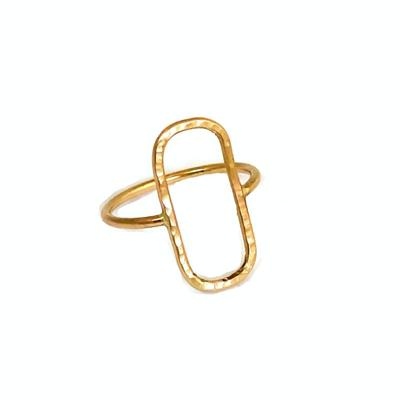 "14K Gold Triangle ""Yvette"" Ring - Emma's Jewelry Box"
