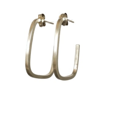 Large Square Hoop Earrings