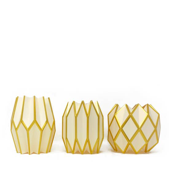 Gold Pearl Paper Vase Wrap (Set/3 Wraps)