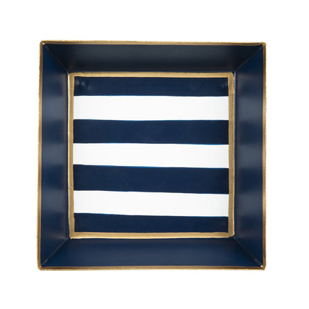 Navy Stripe Cocktail Napkin Tray