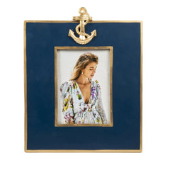 Navy Anchor Frame 5x7 Vivid Hue Collection