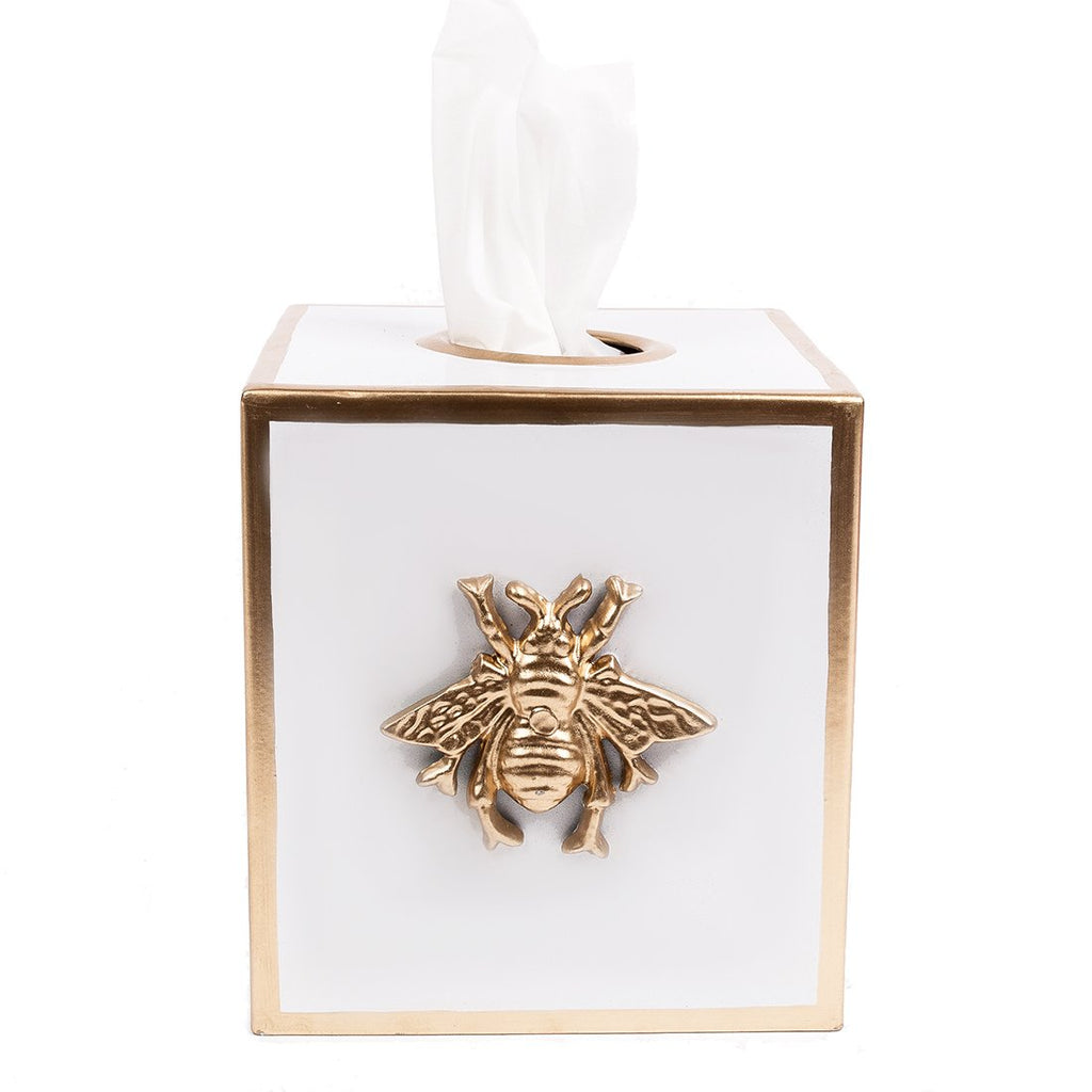 Regency Bee White Tissue Box