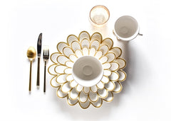 "Gold Scallop 11"" Dinner / Serving Plate"