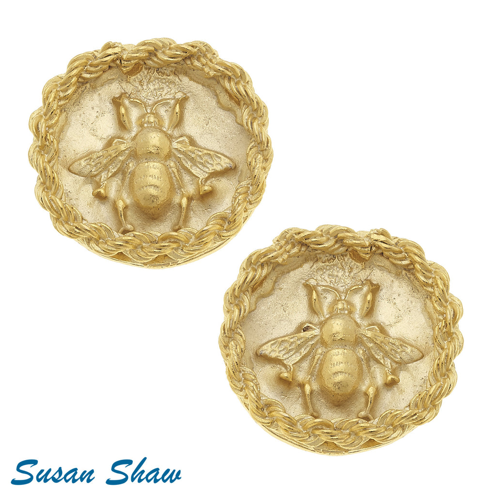 Parker Bee Clip Earrings