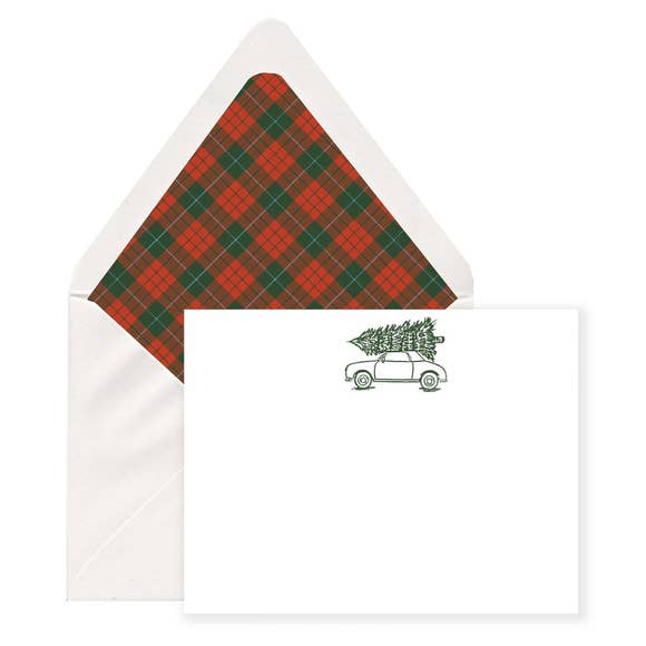 Notecards Christmas Buggy S/6
