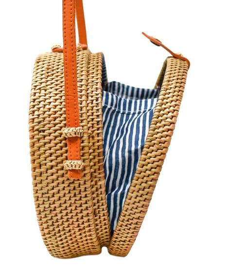 Rattan Nantucket Navy Stripe Crossbody