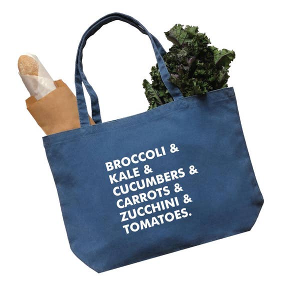 Broccoli Veggie Medium Reusable  Tote