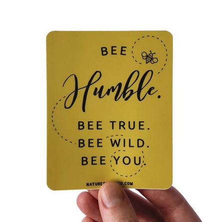 Bee Humble Vinyl Sticker