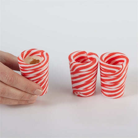 Peppermint Shot Glasses, Edible S/4