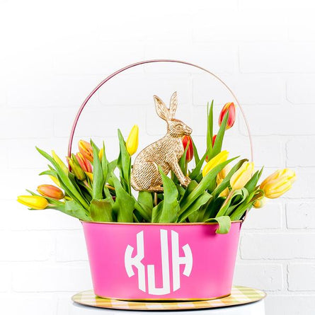 Hot pink Metal Easter Basket