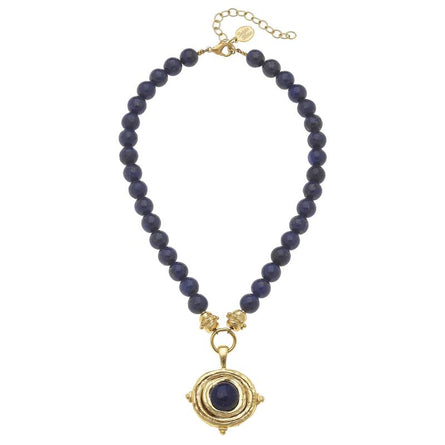 Gold Oval + Black Onyx 3640 Necklace