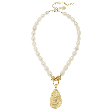 Gold Oyster Fresh Water Pearl 3966W Necklace