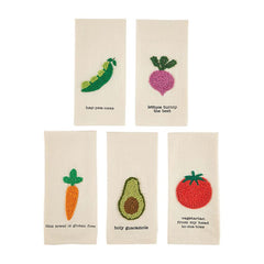 Veggie Kitchen Towels (Knot Stitched). each
