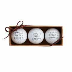 Who's Your Caddy GOLF BALL SET